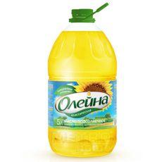 """Масло подсолнечное """"Олейна"""" 5 л. рафинированное"""
