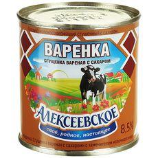 """Молоко сгущенное варенка  """"Алексеевская""""  8,5% 370 г ж/б"""