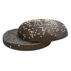 Булочка для гамбургера  с кунжутом чёрная (82 гр/24 шт/кор)