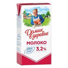 """Молоко """"Домик в деревне"""" 3,2% 0,95л"""