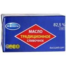 """Масло сливочное """"ЭКОМИЛК"""" 82,5% 450г"""