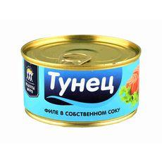 "Тунец кусочки в с/с ""Рецепты Моря"" 185 гр  ж/б"