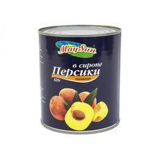 """Персики половинки в сиропе """"MaySun"""" 850 мл"""